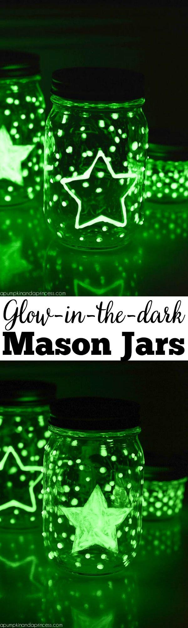 Glow-in-the-dark Mason Jars