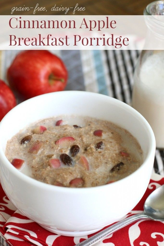 The secret to this unbelievably yummy grain-free breakfast porridge is sweet and fragrant bite-sized apples sautéed with a pinch of fresh ground nutmeg and chewy sweet raisins. The culmination of flavors creates the ultimate porridge experience – rich cinnamon-apple flavor delightfully paired with a creamy, oat-like chewy texture. SO good!