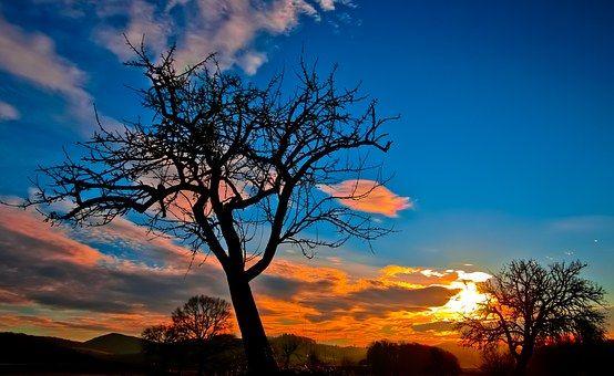 Sunset, Ciel Du Soir, Rémanence