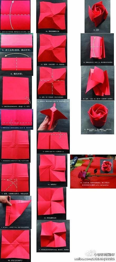 origami rose                                                                                                                                                                                 More