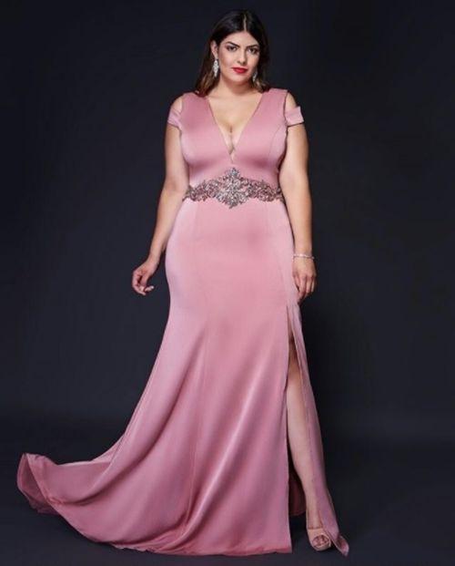 253ba8b6c Vestidos de Festa Plus Size 2018  Fotos