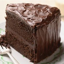 Chocolate Stout Cake - An incredibly moist cake, with rich, dark color. The secret ingredient? Guinness!