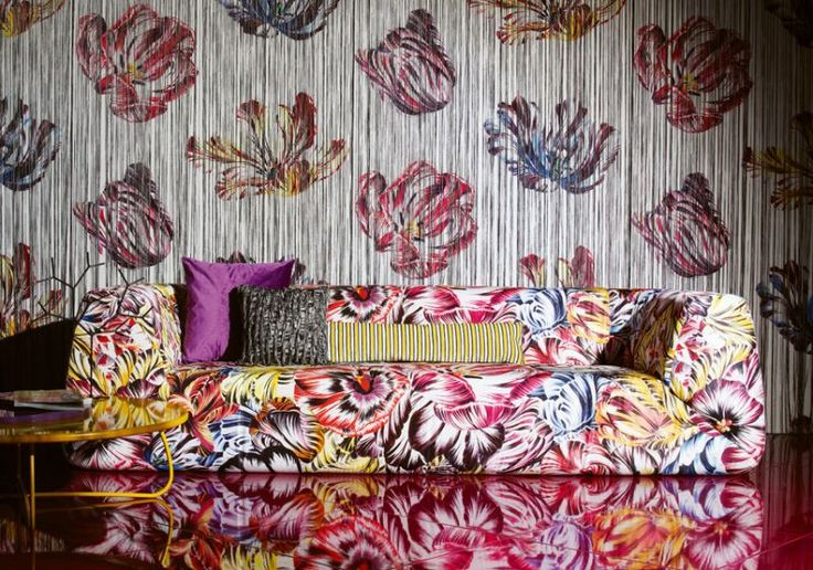 Missoni Home. Woven and knitted, printed and embroidered fabrics.  Wallpaper http://www.missonihome.it/