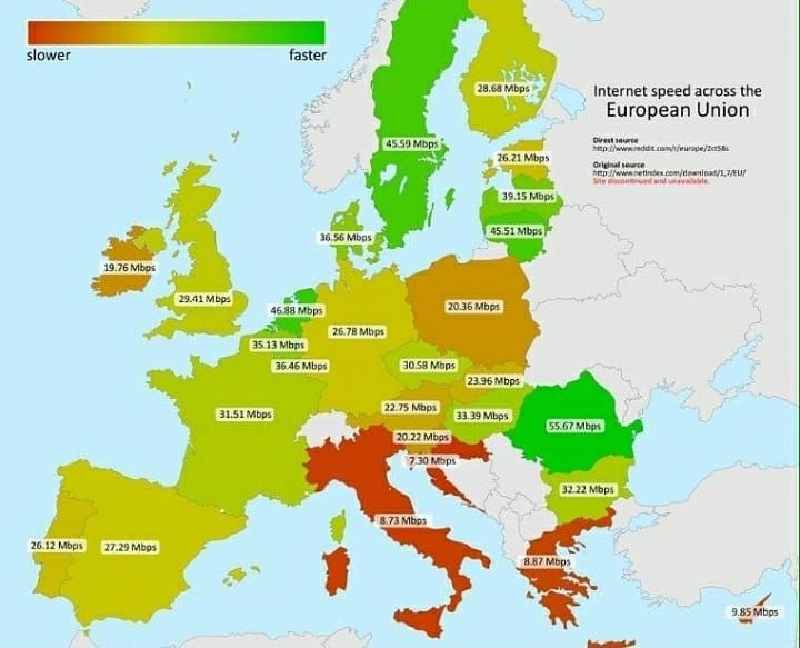 Mejores 188 imgenes de europe en pinterest average internet speed across the eu repost from unimaps maps map country countries facts facteurope eu amazing follow info gumiabroncs Choice Image