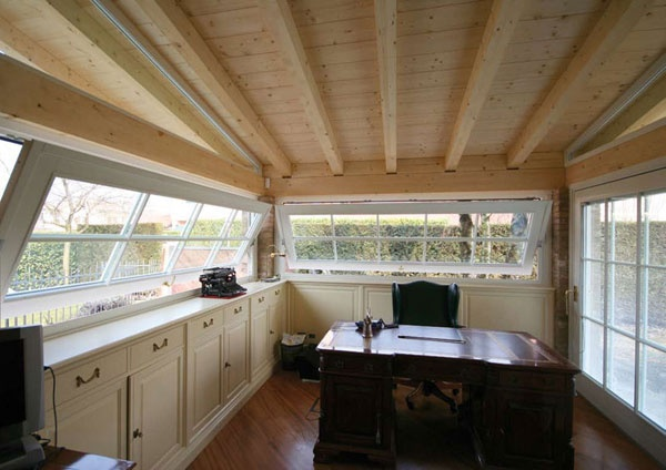 Custom Wood Pivot Windows by America Italiana