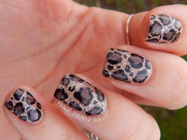 Modele de unghii leopard