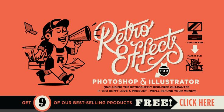 RetroSupply Co – Retro Effects for Photoshop and Illustrator