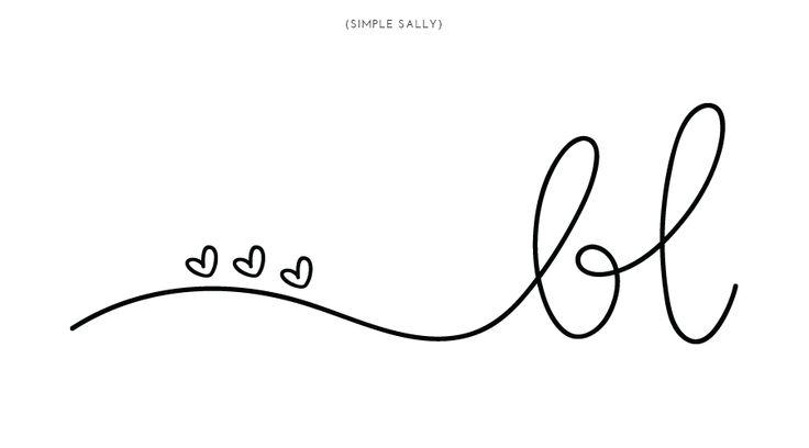 handwritten initials | Betty Lee | by Simple Sally | #handwritten #logo