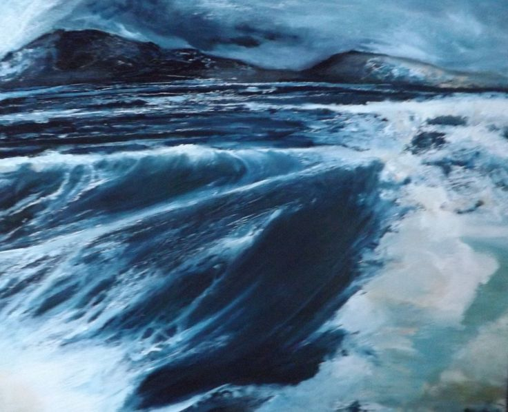 The coast around the north peninsula of south west England battles against waves born  in the Atlantic.  They travel rich and unfettered to beaches and coves. Staying by the water made me reach for oil on my return.                                                                                                                                                                                                                                                                                  ...