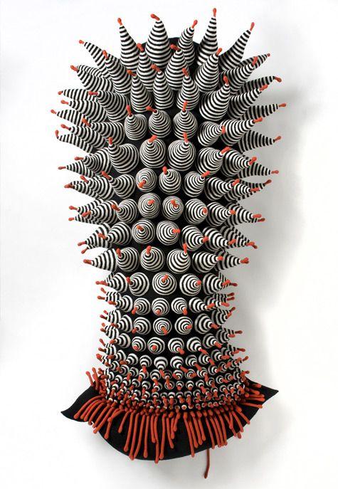 Zoë Landau Konson: Mother.Me - 2012 Crocheted wool / 186 x 94 x 55cm