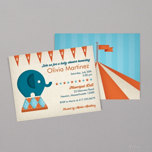 37 best Circus Party images – Vistaprint Baby Announcements