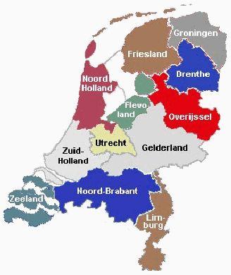 Mooie kaarten van alle provincies met de topgrafie - Topomania