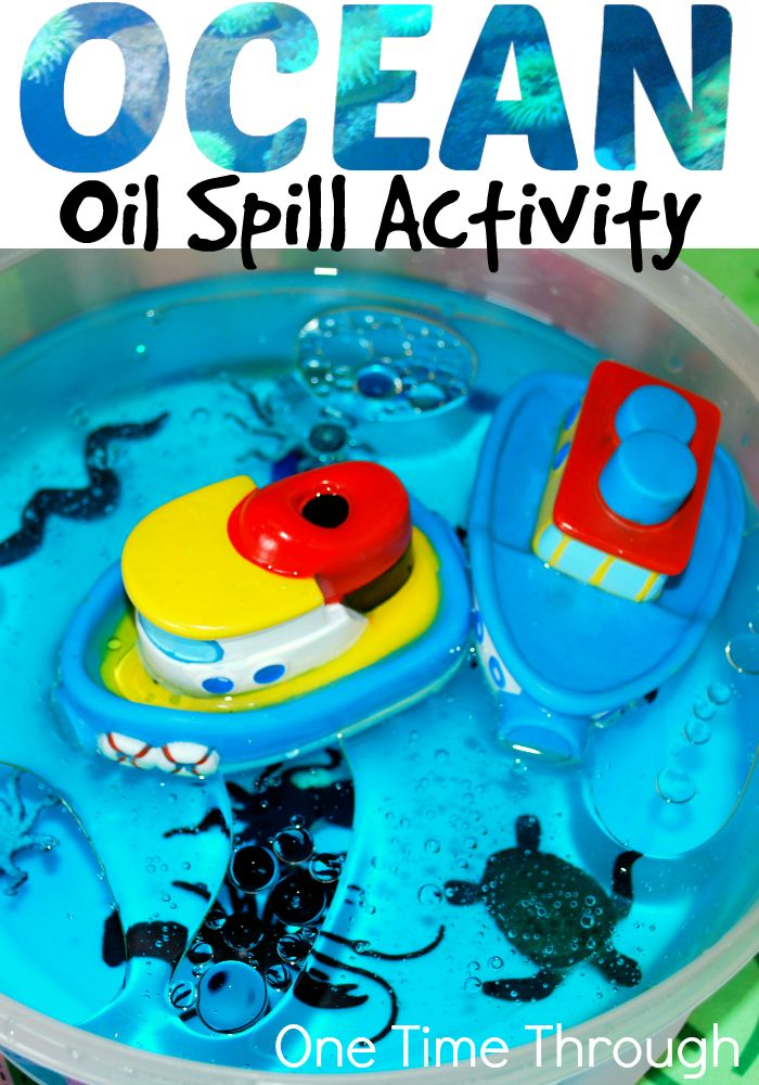Try this fun hands on activity with your kids to help them understand why oil spills happen in the ocean, the effects they have on marine animals and how difficult they are to clean up! Also find 10 plus links for fun, hands on ocean activities for kids. {One Time Through}
