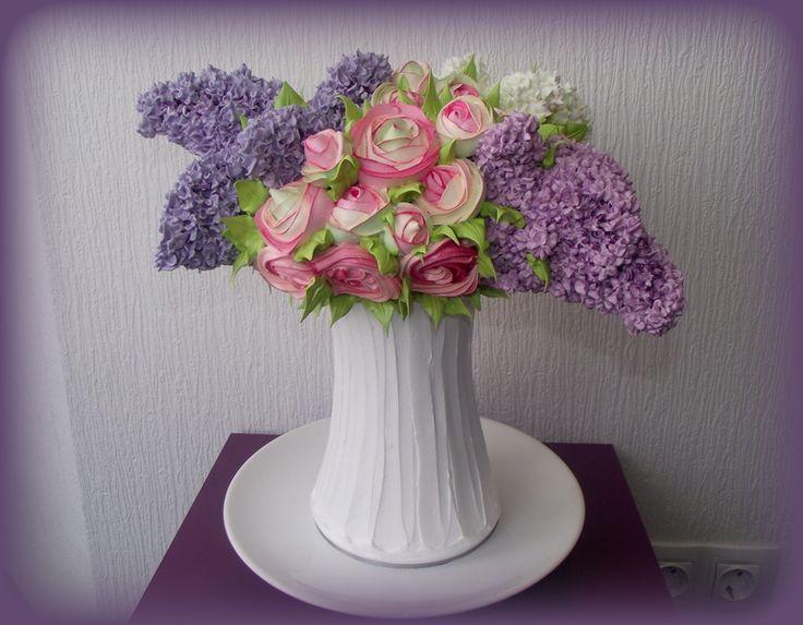 торт ваза с цветами фото эмоции неподдельные чувства