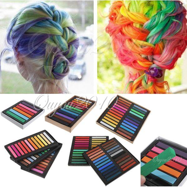 6 12 24 36 48 coloration pour cheveux teinture craie crayon temporaire coiffure ebay - Dcoloration Cheveux Colors