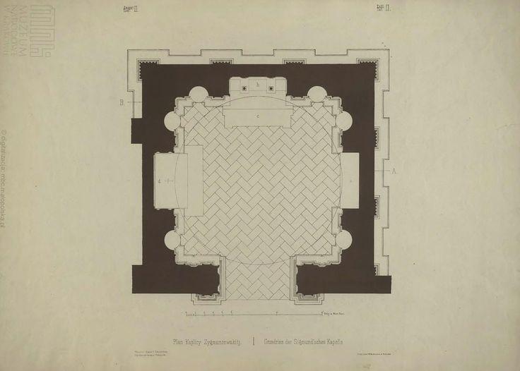 Kaplica Zygmuntowska - plan centalny