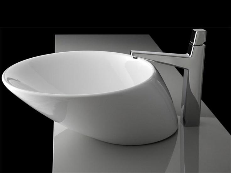 Top-mounted washbasin NET by Plavisdesign | Design Bullo Design