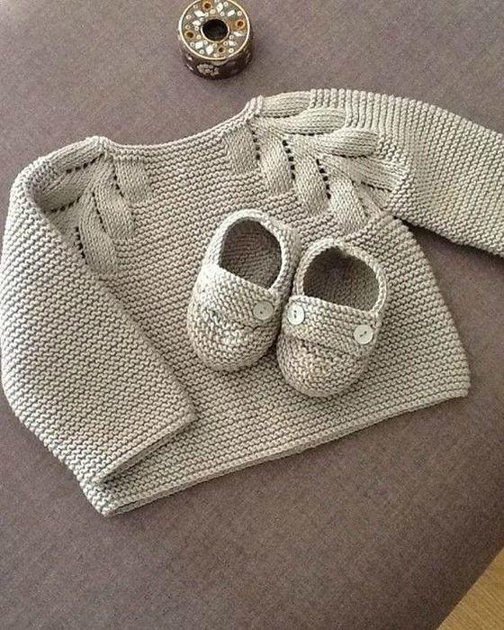 Кофточка с листиками для малыша (Вязание спицами) | Журнал Вдохновение Рукодельницы