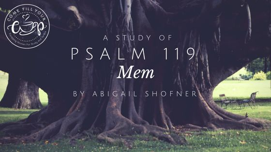 NEW POST! Psalm 119: Mem by Abigail Shofner http://comefillyourcup.com/2017/10/06/psalm-119-mem/?utm_campaign=coschedule&utm_source=pinterest&utm_medium=Come%20Fill%20Your%20Cup&utm_content=Psalm%20119%3A%20Mem