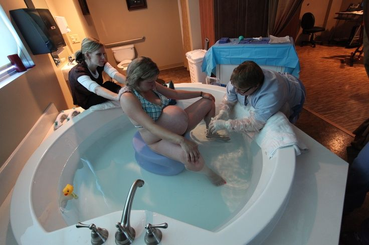 Birthing tub large but still able to reach over for birth birth center pinterest births for Giving birth alone in a bathroom