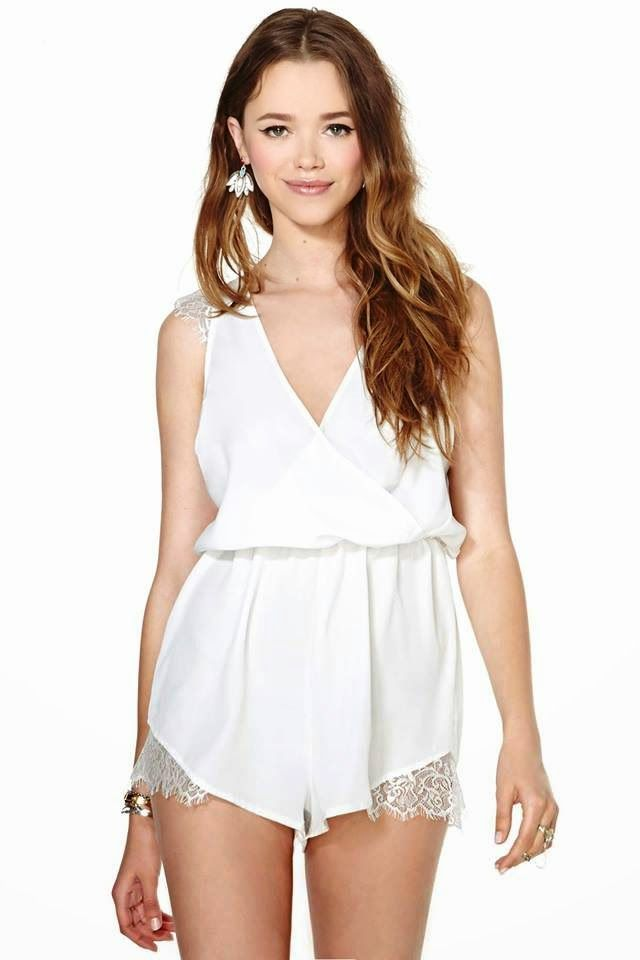 at Nasty Gal // white romper