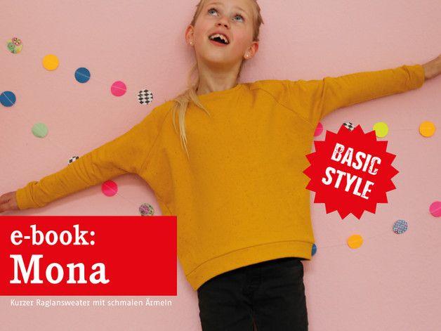 Nähanleitungen Kind - E-BOOK ★ MONA - kurzer Raglansweater ★ ebook - ein Designerstück von fritzi-selbermacher bei DaWanda