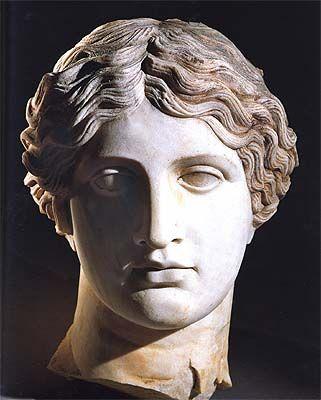 Sculpted head, Marble, A.D. mid-1st century, Pompeii