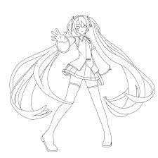 resultado de imagen para hatsune miku para colorear