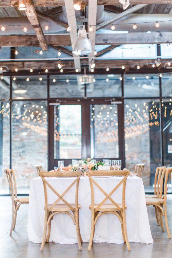 Twinkling wedding reception decor: http://www.stylemepretty.com/maryland-weddings/baltimore/2015/11/12/casually-elegant-hometown-wedding-in-baltimore/   Photography: Caroline Tran - http://carolineloganphotography.com/