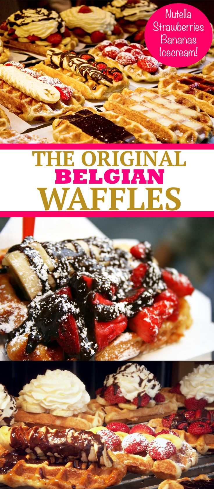 Made with real belgian chocolate this fun chocolate animals make - Belgian Waffles With Ice Cream Nutella Banana And Strawberries