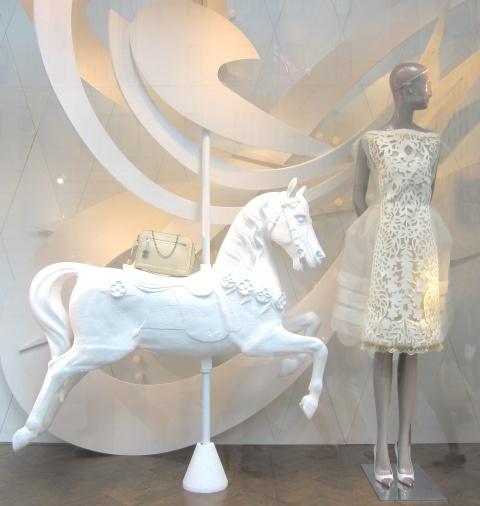 white Louis Vuitton - window - 5th ave, NYC