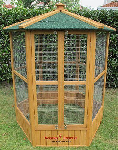 Aviaries Imperial Stunning Wooden Bird Aviary Hexgonal Design
