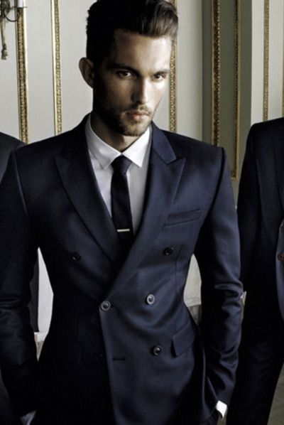 mens fashion, navy, suit