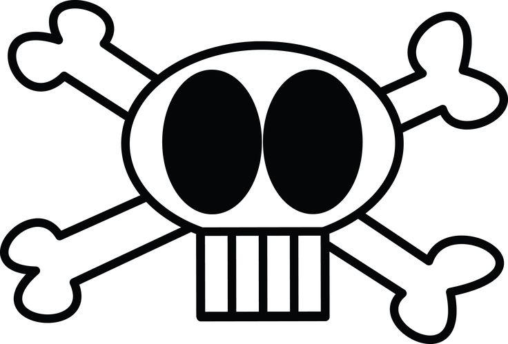 Free clipart illustration of skull and crossbones skulls