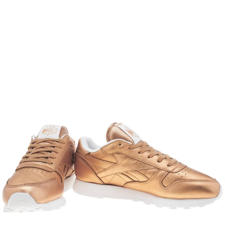 bronze classic leather spirit, part of the womens reebok trainers range  available at schuh