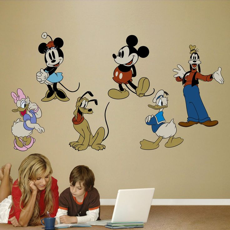 Disney Classic Mickey Mouse Characters Wall Decal - 74-74008