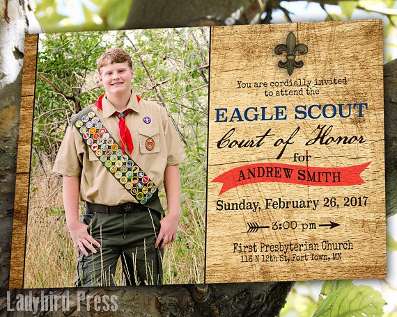 Printable Eagle Scout Court of Honor Invitation  Boy Scouts