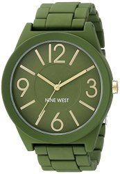 Nine West Women's NW/1678GRGR Green Watch With Green Band