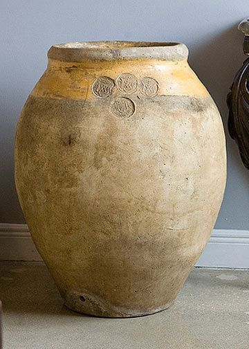 17th Century French Antique Provencal Biot Jar with Trade Seals