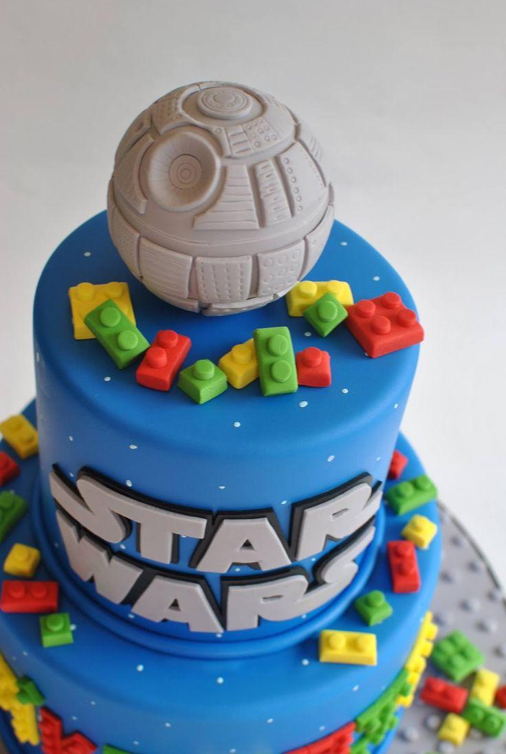 Star Wars Cakes Lego Star Wars Cake Sculpted BB8 Cake Darth Vadar Cake ...