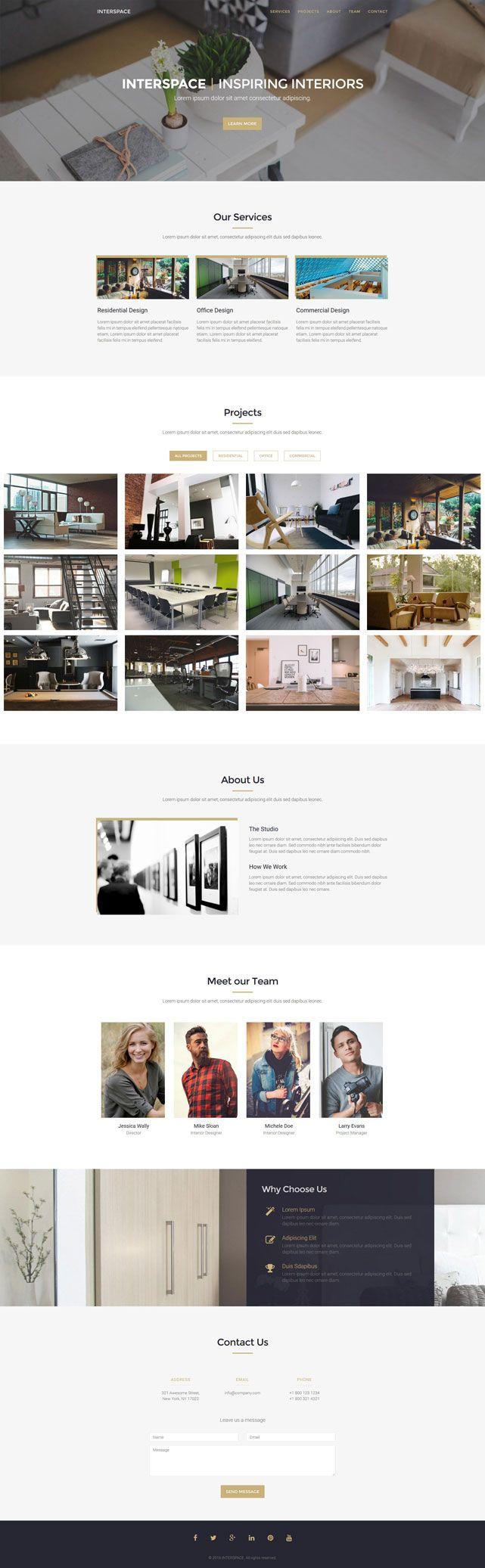 Interspace - Interior Design HTML Website Template