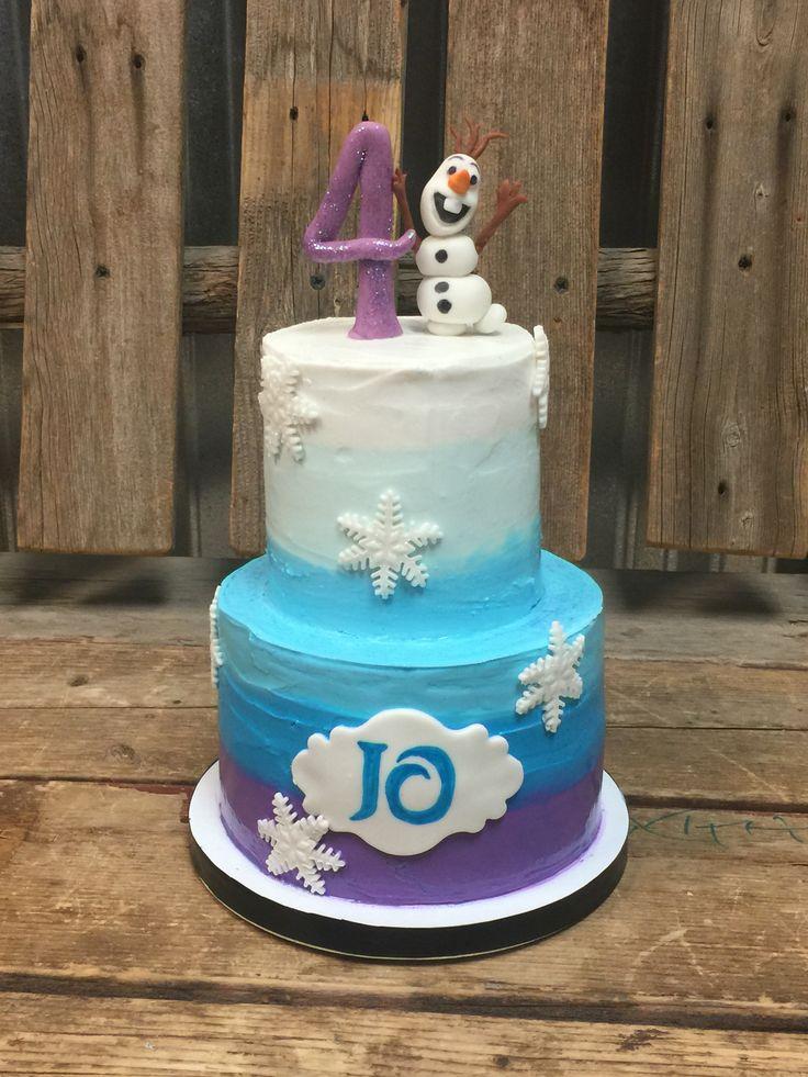 Frozen inspired cake