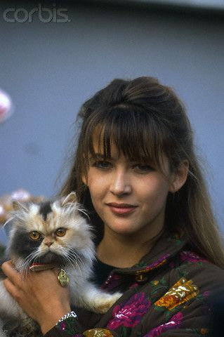 French Actress Sophie Marceau at an Animal Shelter - 0000271557-002 - Rights Managed - Stock Photo - Corbis