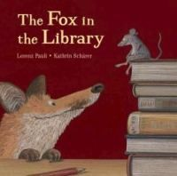 The Fox in the Library, by Lorenz Pauli (children's picture books). When Fox goes to the library looking for mice, Mouse offers fox a book so that he will get new ideas -- like wanting to eat chickens. But when the chicken-eating, fox-hunting farmer walks into the library, Fox and Chicken think fast and come up with a surprising solution that just might save them both.