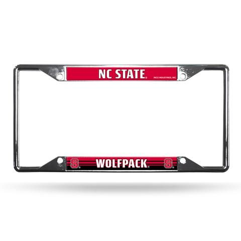 North Carolina State Wolfpack License Plate Frame Chrome EZ View #NCStateWolfpack