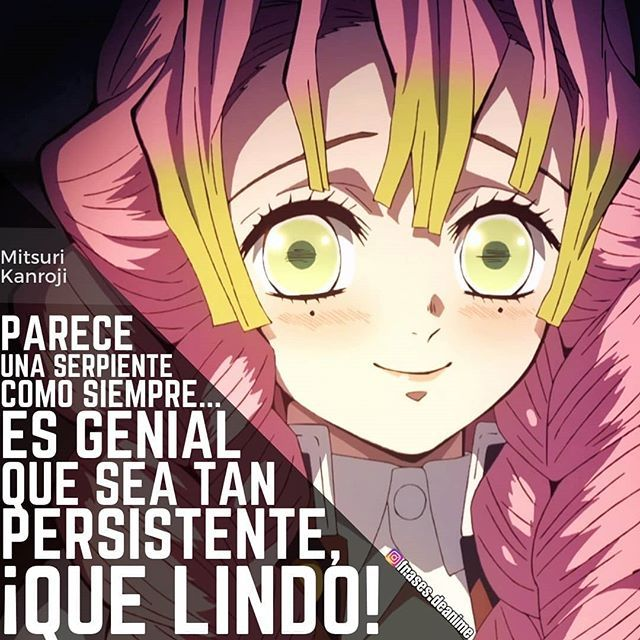 El Personaje Mitsuri Kanroji El Anime Kimetsu No Yaiba Demonslayer Inosukehashibira Mitsurikanroj Frases De Personajes Anime Frases Otakus Zerochan has 639 kanroji mitsuri anime images, wallpapers, android/iphone wallpapers, fanart, cosplay pictures, and many more in its gallery. frases de personajes anime frases otakus