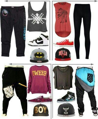 Hip hop dancer outfits