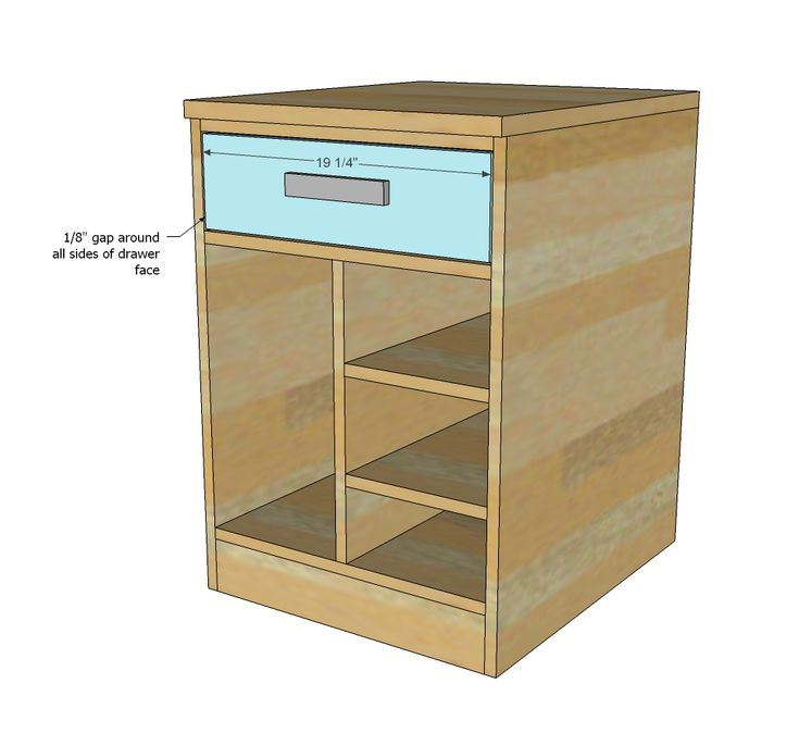 how to build a desk with drawers