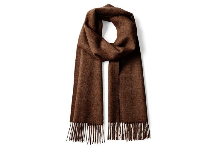 Brushed Alpaca Scarf is made from the fleece of Suri alpacas, a rare breed known for its exquisitely soft wool.