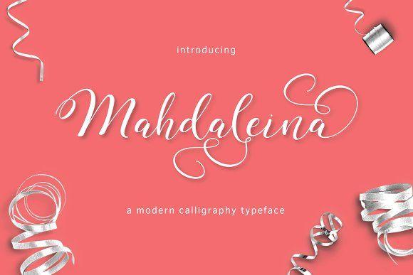 Mahdaleina Typeface by thirtypath on @creativemarket